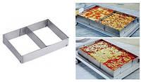 Форма для выпечки разъемная регулируемая квадратная 34 на 52,5 см