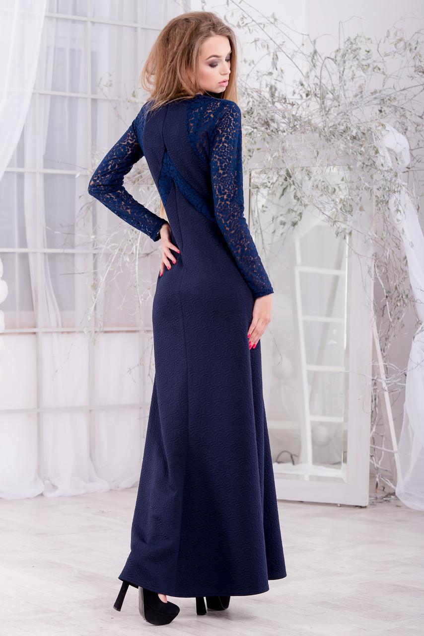 e4a52b6e07d Теплое длинное вечернее платье из жаккардового трикотажа
