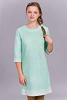 Нежно-розовое гипюровое платье для девочки 355-2 (Д.И.В.)