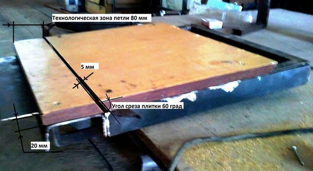 Подрезка плитки на напольном люке