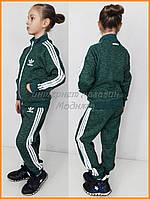 Утепленный детский костюм Adidas | меланж хаки