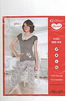 Пижама женская с кружевом +Батальные размеры