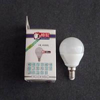 Лампа светодиодная LED 3,5W E14 6400K шарик KODE:534563