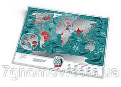 "Скретч карта світу ""Travel Map Marine World"" в тубусі"