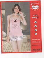 Молодежная вискозная пижамка Cocoon secreet с шортиками