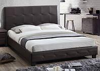 Кровать Хьюстон мягкий обклад КЗ шоколад (Domini ТМ)