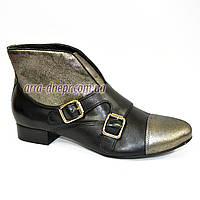 Кожаные женские демисезонные ботинки на невысоком каблуке. В наличии 36-41 размеры