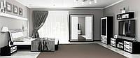 Спальня «Виола Глянец белый-Чорний мат – Лайт» MiroMark