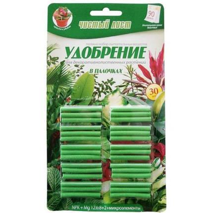 """Удобрение в палочках ТМ """"Чистый Лист"""", для декоративно-лиственных; (30 палочек на блистере)., фото 2"""
