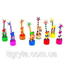 Дергунчик Жираф деревянная игрушка, фото 2