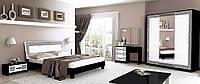 Спальня «Виола Глянец белый-Чорний мат – Софт» MiroMark