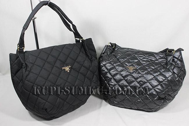 ab26dbab9dcd Женская стильная черная сумка стеганая PRADA - Интернет-магазин