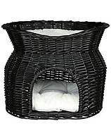 TRIXIE Плетеный домик для кота с лежаком на верху