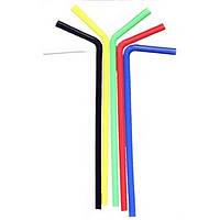 Трубочка цветная 210 мм 200 шт  Winco