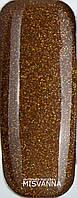 Гель лак Master Professional 10  мл №134 Коричневый с золотыми блестками
