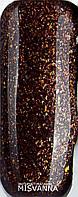 Гель лак Master Professional 10  мл №150 Темно коричневый с микро блестками
