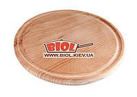 Подставка деревянная 20см (бук) под чугунные порционные сковороды