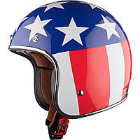 Шлем LS2 OF583 EASY RIDER, BLUE RED WHITE, S