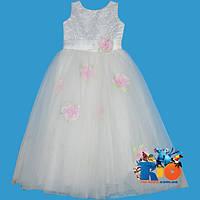 """Красивое праздничное платье """"Маки"""" ,  на девочек от 6-7 лет"""