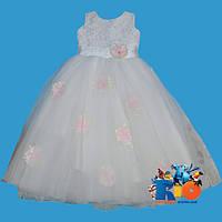 """Красивое праздничное платье """"Маки"""" ,  на девочки от 6-7 лет"""