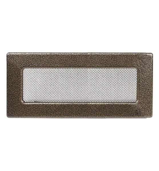 Решетка каминная антик золото 25х11см (посадочный 22,5х9)