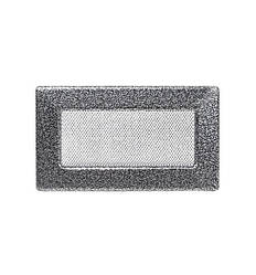 Решетка каминная антик серебро 17х11см (посадочный 15х9)