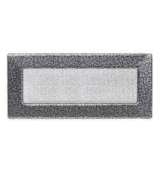 Камінна решітка антик срібло 25х11см (посадковий 22,5х9)