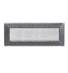 Решетка каминная антик серебро 42х11см (посадочный 40х9)