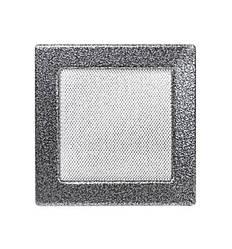 Решетка каминная антик серебро 17х17см (посадочный 15х15)