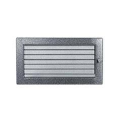 Решетка каминная антик серебро 30х17см с жалюзи (посадочный 28х15)