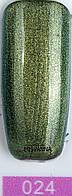 Гель лак Master Professional хамелеон 10 ml золотисто салатовый №24