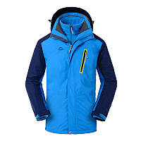 Куртка водо-ветронепроницаемая 3в1 SoftShell мужская NatureHike синий NH16F001-M