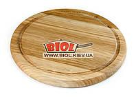 Подставка деревянная 24см (дуб) под чугунные порционные сковороды, фото 1