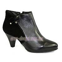 Женские демисезонные ботинки на каблуке, натуральная кожа и замш . В наличии 36-41 размеры