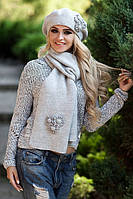 Комплект Бархатцы (берет и шарф) 5059-10