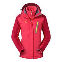 Куртка водо-ветронепроницаемая 3в1 SoftShell женская NatureHike красный NH16F001-W