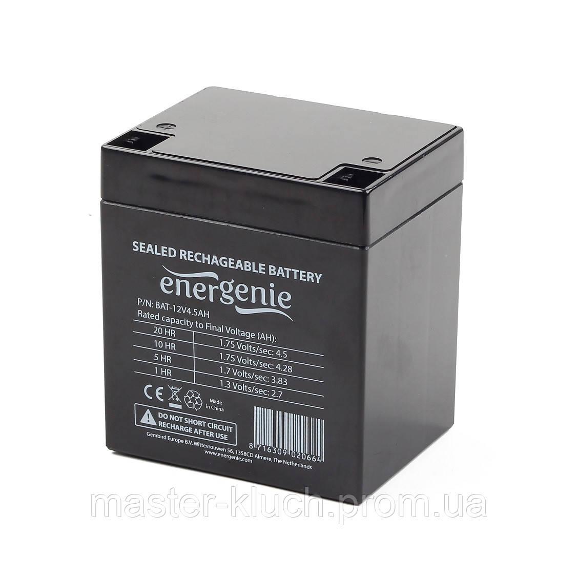 Аккумулятор EnerGenie BAT-12V4.5AH 12V 4.5Ah