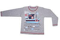 Кофта Кораблик для мальчика серого цвета 80-86