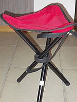 Раскладной стул для рыбалки красный