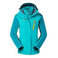 Куртка водо-ветронепроницаемая 3в1 SoftShell женская NatureHike бирюзовый NH16F001-W