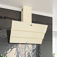 Кухонная вытяжка Eleyus Troy 1000 LED SMD 90 BG бежевое стекло