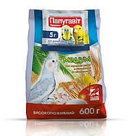 Корм для попугаев ХОББИ МИЛ пакет ГОВОРУН медиум (для средних попугаев) 600 г