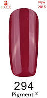 Гель-лак F.O.X. №294 темно-малиновый эмаль 6 ml