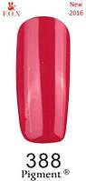 Гель-лак F.O.X. №388 яркий коралл (розово-красный) эмаль 6 ml