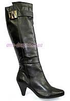 Женские демисезонные сапоги на каблуке, натуральная кожа. В наличии 36-41 размеры