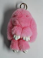 Зайчик из натурального меха (розовый)