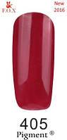 Гель-лак F.O.X. №405 темно -красный эмаль 6 ml