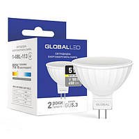 Светодиодная лампа 1-GBL-114 MR16 GU5.3 5W 4100K 220V GLOBAL
