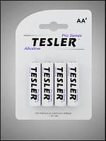 Батарейки щелочные Tesler Alkaline AA LR6 блистер 4 шт