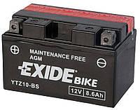 Аккумулятор сухозаряженный AGM 8,6Ah 145A EXIDE ETZ10-BS = YTZ10-BS